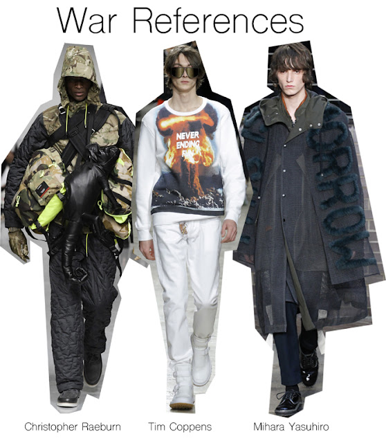 war references in fashion, Christopher raeburn, tim coppens, mihara yasuhiro, graphics, fashion trend, fashion design