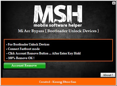 Mi Account Bypass Tool Bootloader Unlock Device Free Download