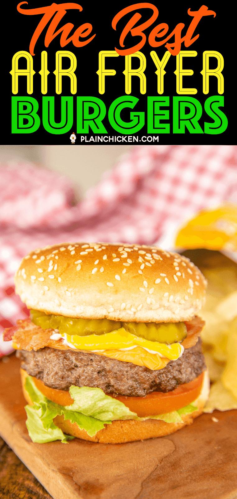 hamburger on a bun with chips