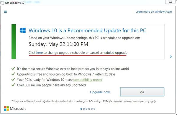 """تحذير : خدعة """" تكتيك """" من شركة ميكروسوفت لتثبيت ويندوز 10 على حاسوبك !"""