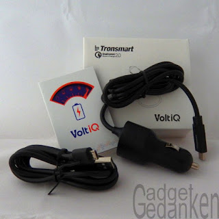 Tronsmart®36W Dual-Rapid-Ports USB Type C KFz-Ladegerät Packungsinhalt