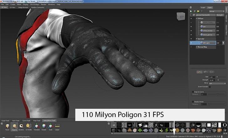 NVIDIA Quadro M5000 Autodesk Mudbox