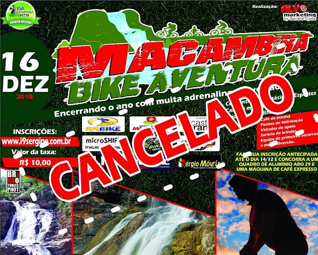 Falta de apoio da prefeitura cancela evento esportivo Bike Aventura em Macambira