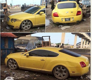 Abandoned Bentley GT Spotted In Lagos (Photos)