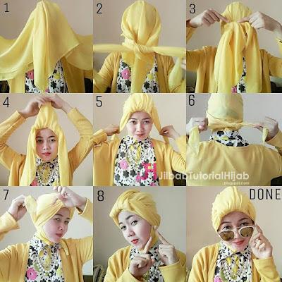 dilengkapi juga dengan gambar dan video tutorial Gambar + Video Tutorial Hijab Square