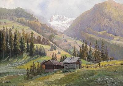 paisajes-de-los-alpes-suizos-pintura-al-oleo-karl-flieher