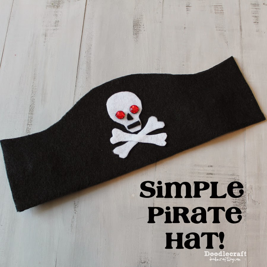 Doodlecraft simple pirate costumes for Diy pirate hat template