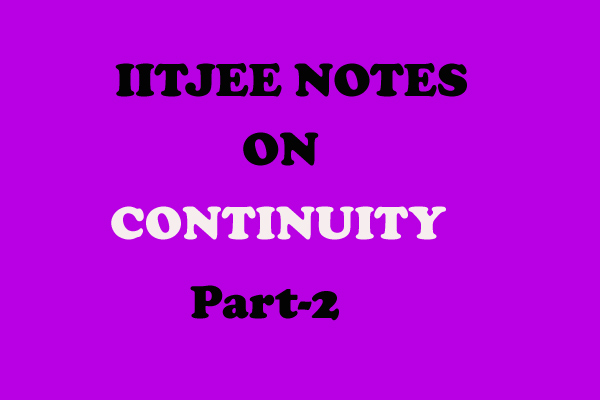continuity notes