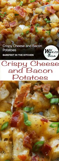 Crispy Cheese As Well As Bacon Potatoes