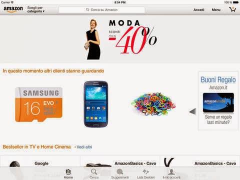 Amazon Mobile si aggiona alla vers 7.2.0