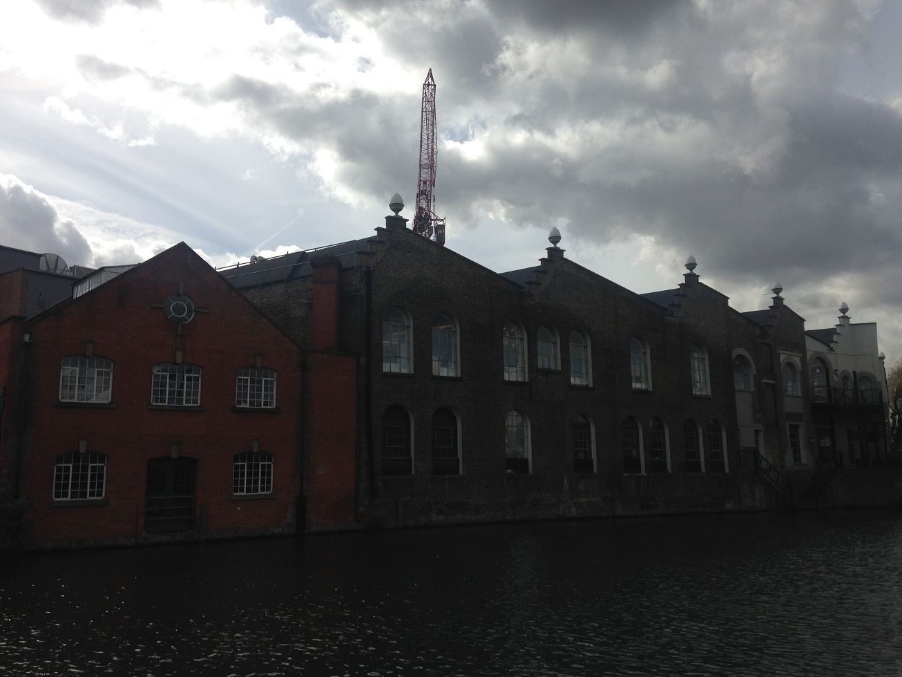 Former wharves lining the Regent's Canal, Camden, London NW1