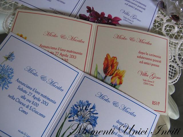 floral2 Partecipazioni card linea florealeLinea Floreale