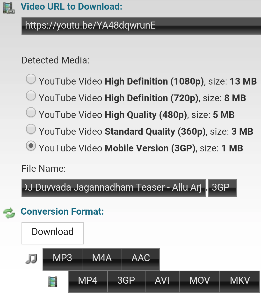 How To Download Specific Part Youtube Video 6 Select Desired Video Format  And Quality