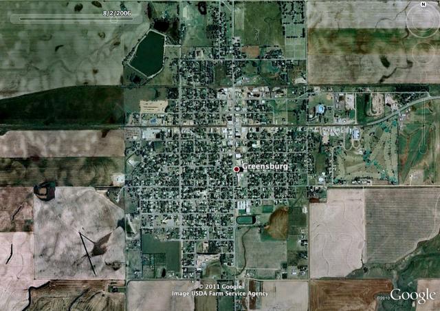 Google Earth Time Machine: Greensburg, Kansas