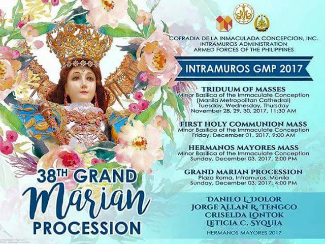 grand marian procession 2017 intramuros manila