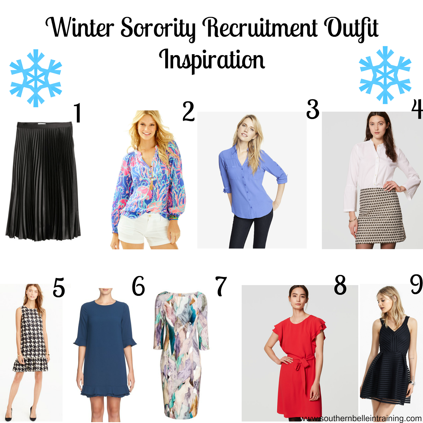 Winter Sorority Recruitment Outfit Ideas.  Southern Belle in Training