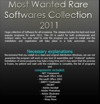 Most Wanted Rare Softwares Collection 2011 ISO Español Descargar TEU Programas