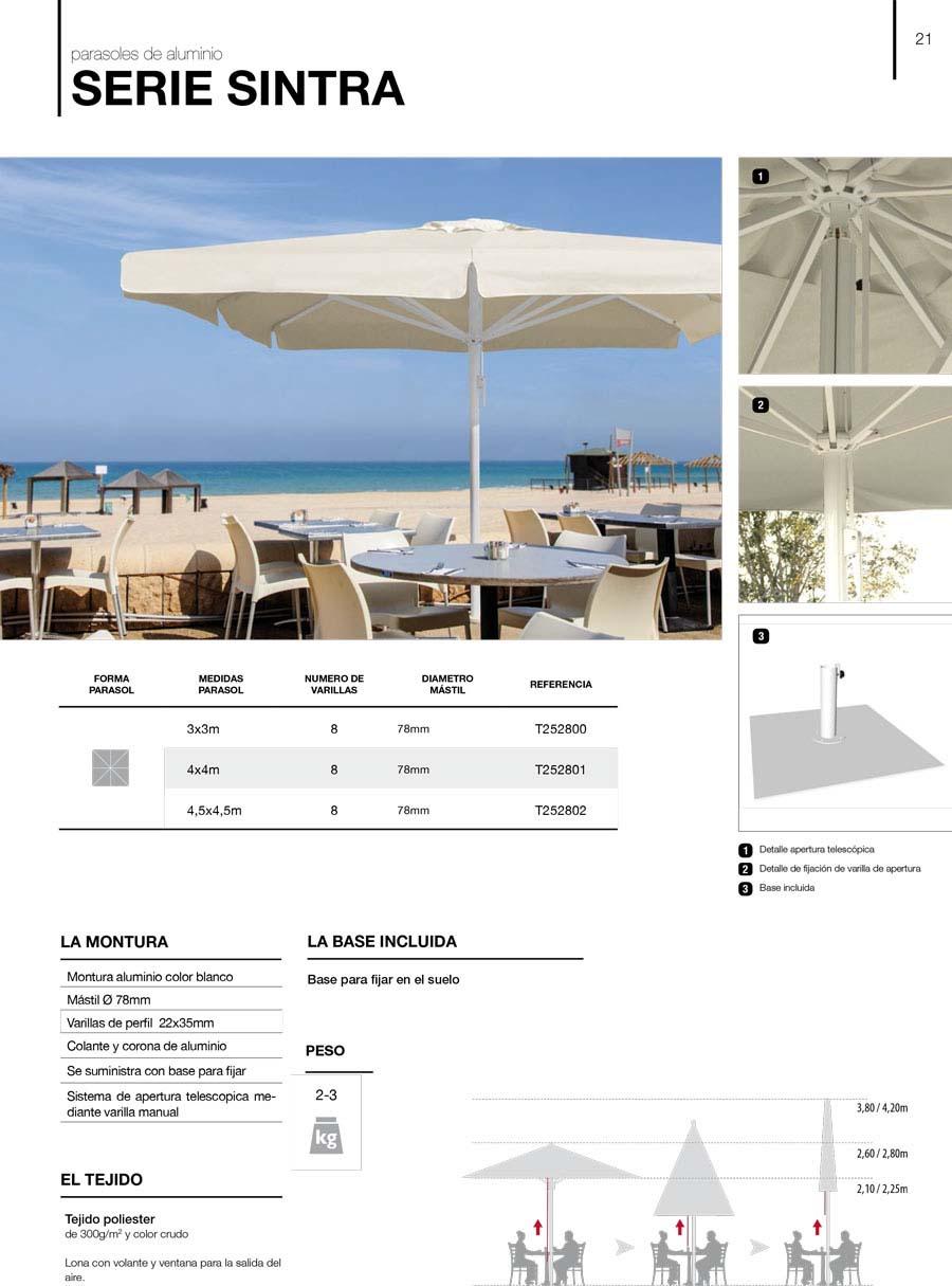 características parasoles aluminio serie sintra