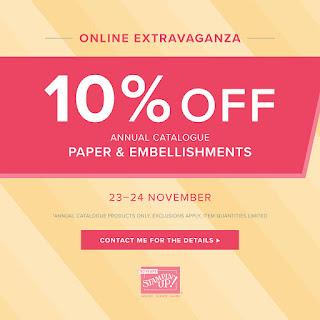 2018 Stampin' Up! Online Extravaganza Black Friday Weekend Craft Offers from Mitosu Crafts UK