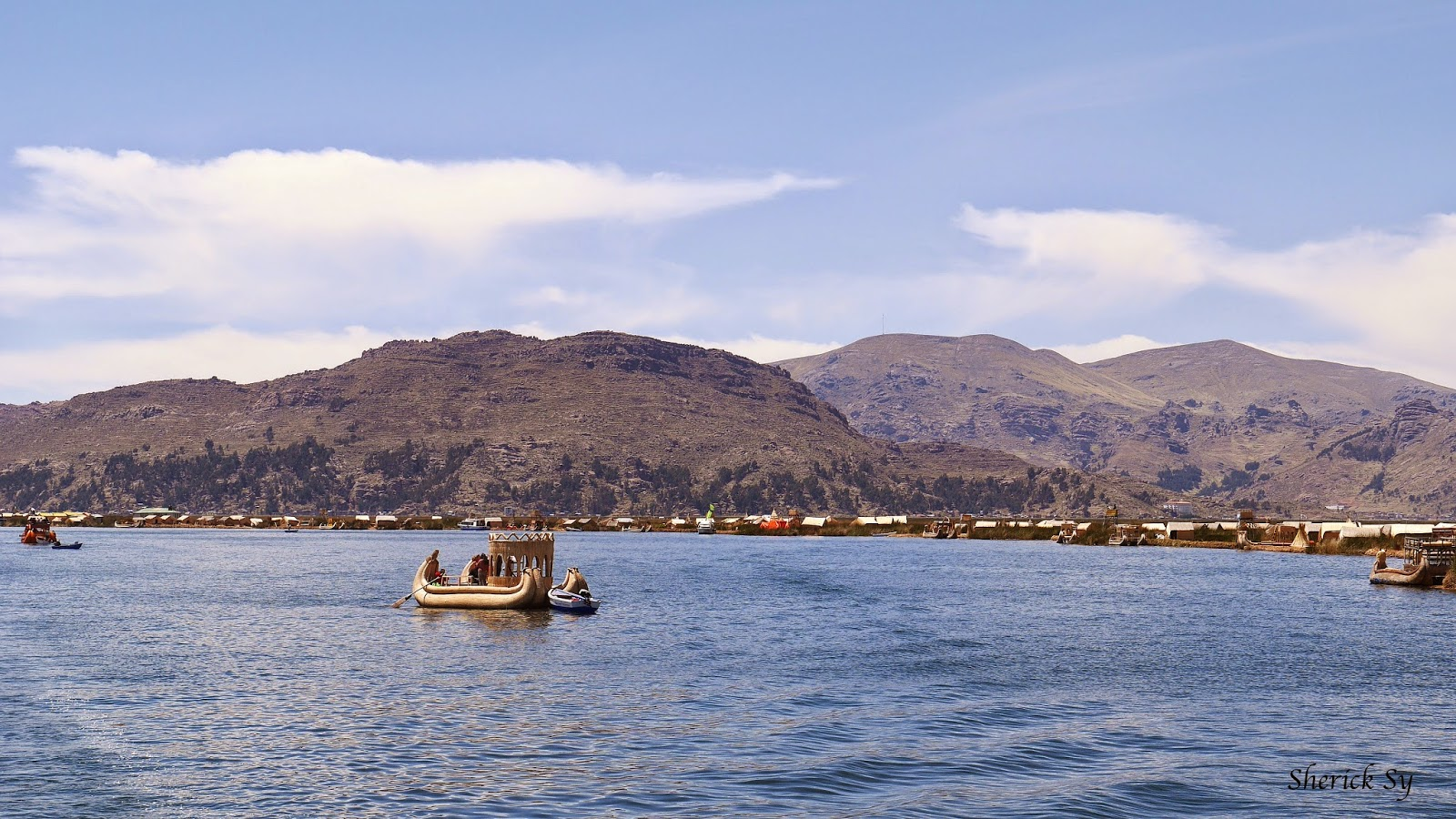 Totora Boat and the Floating Islands of Uros, Lake Titicaca, Peru