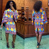 Back And Front View of Beautiful Ankara Short Gown Styles
