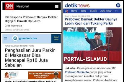 Prabowo Sebut Gaji Dokter Lebih Kecil dari Tukang Parkir, Begini Kata Ikatan Dokter Indonesia