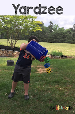 Yardzee game is perfect for outdoor play!