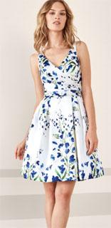 vestido corto para coctel drapeado estampado 2019