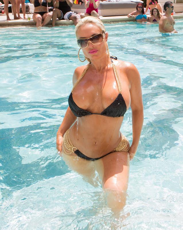 Nicole Coco Austin in a revealing Tiny Bikini