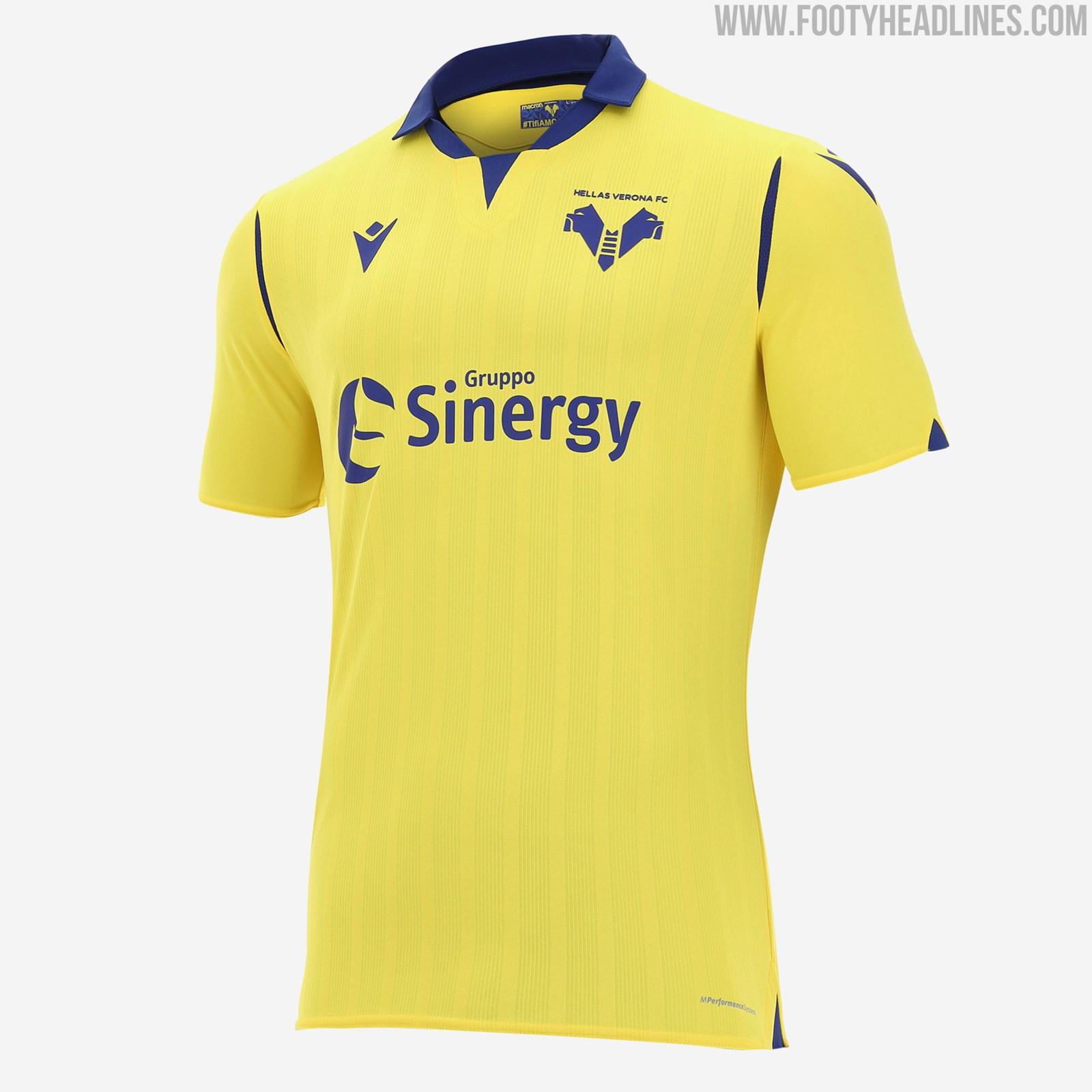 6, 22, 17 bright green: All-New Logo: Hellas Verona 20-21 Home & Away Kits