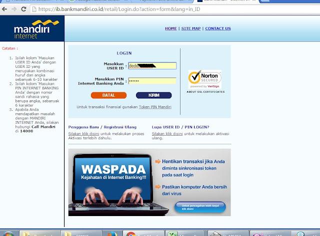 Cara Membayar Tagihan PLN Dengan Mandiri Internet