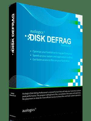 Auslogics Disk Defrag Pro Box Imagen