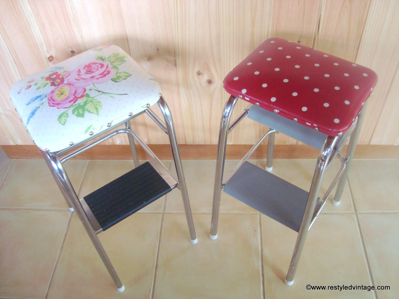 Old Fashioned Kitchen Chair Step Stool Portable Ventilation Fan For Restyled Vintage Retro Makeover