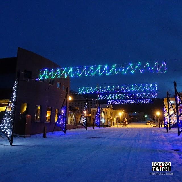 【洞爺湖溫泉賞燈街】燈光灑在白雪上 溫泉鄉孤寂的燈節