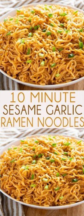 Delicious Sesame Garlic Ramen Noodles Recipe