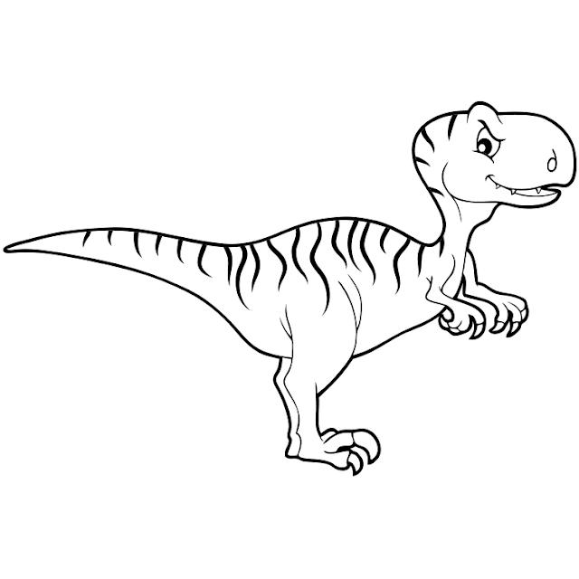 aneka mewarnai gambar dinosaurus 14