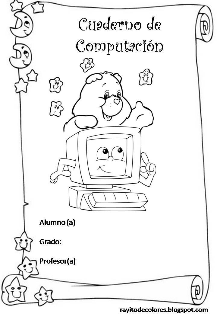 Carátula para cuaderno de Computación