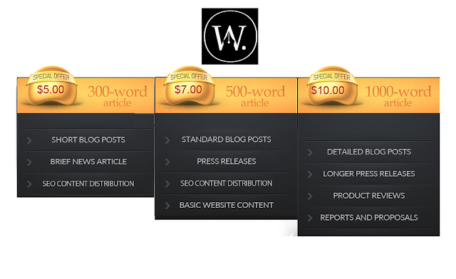 Wit Ink SEO Content Pricing