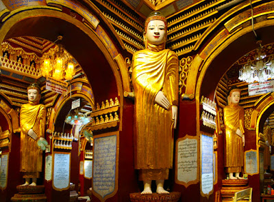 Thanboddhay Temple interior