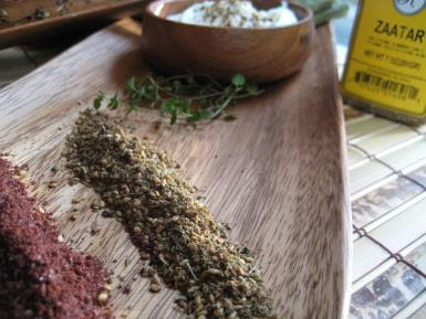 MIDDLE EASTERN:  Chicken za'atar and how to make the mideastern spice mix