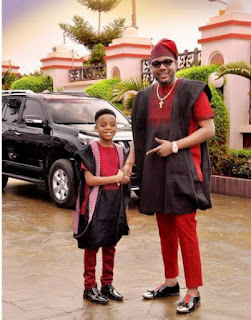 Cute photos of E-Money and his three sons in matching Outfits