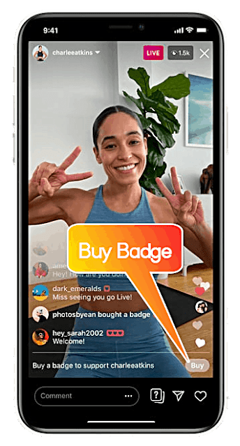 Instagram Live Badge Feature to Make Money in Hindi