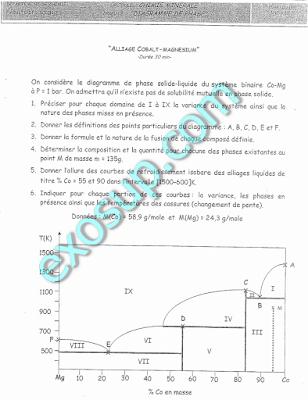 sujet des examens SMC S3 FS El Jadida
