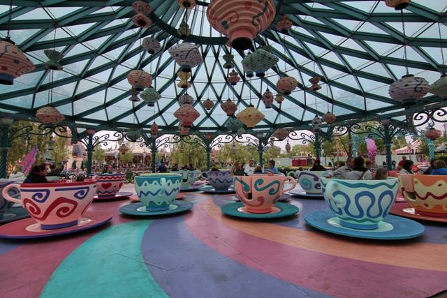 Las tazas locas en Disneyland Paris