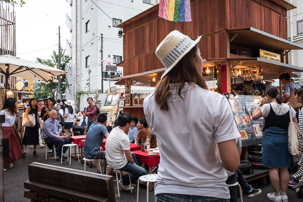 Schmatz and Fish Co-op stalls at Commune 246, Minami-Aoyama, Tokyo.