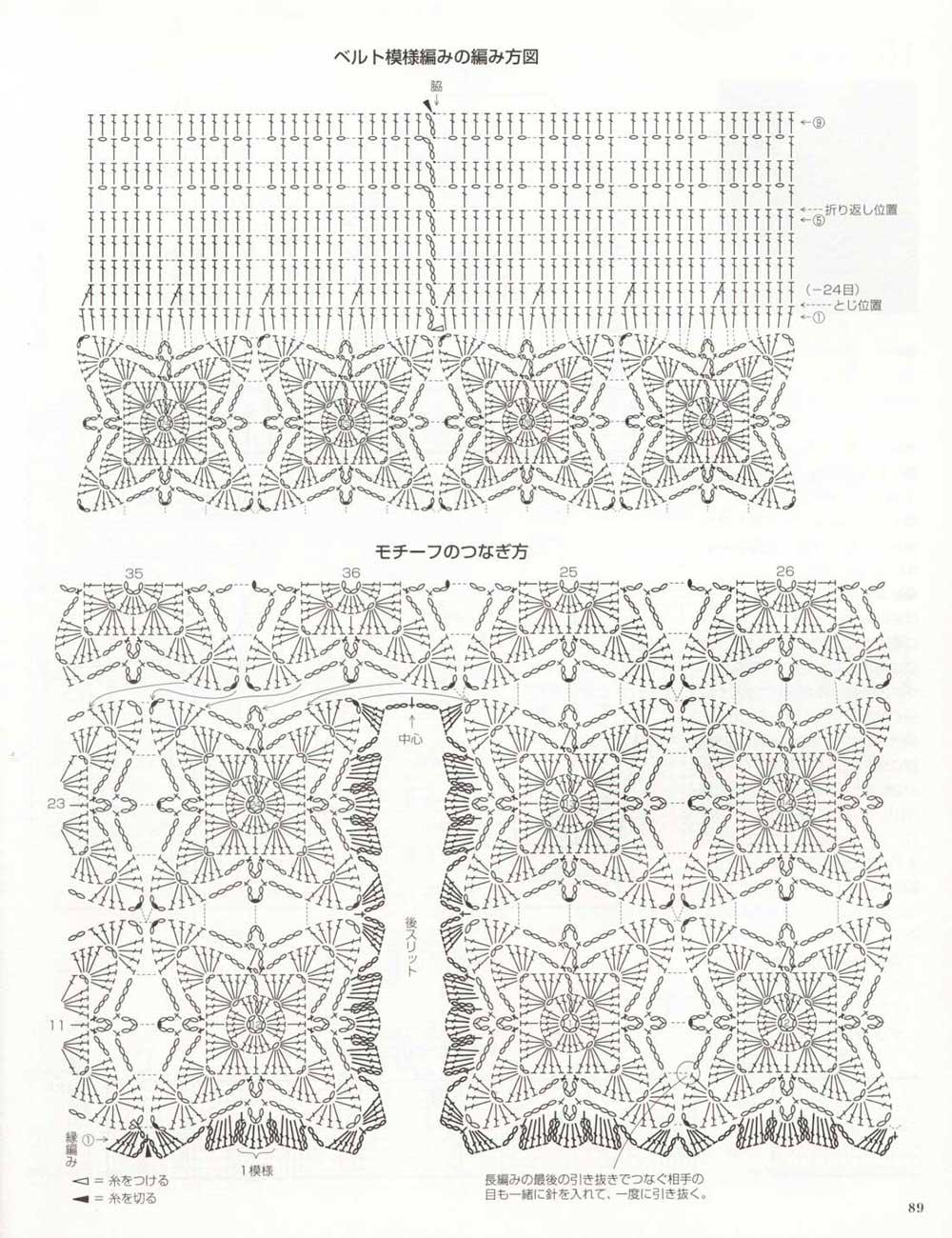 granny squares, falda crochet grannys, patrones crochet, enrhedando