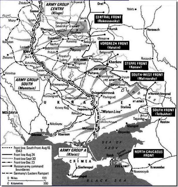 Red Army Advances to Kiev Isolates  Crimea August 18 - December 23, 1943