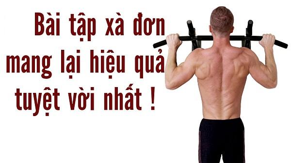 1. Tập thể dục xà đơn cải thiện chiều cao