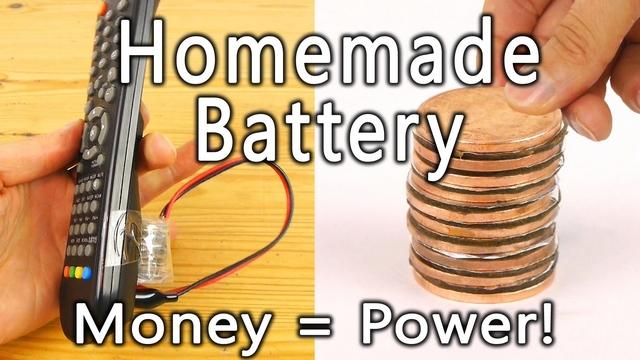 φτιάξε μπαταρίες με νομίσματα