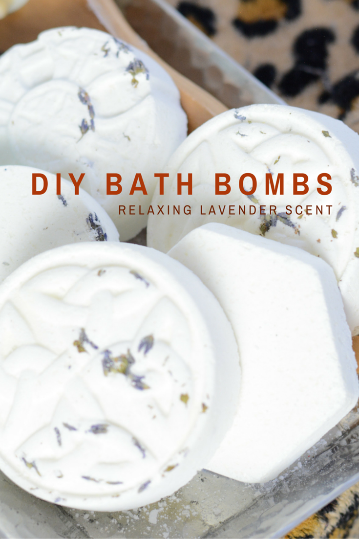 diy aromatherapy bath bomb made with baking soda and other natural ingredients. fizzes and releases lavender scent  in tub or shower.